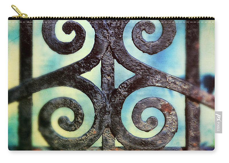 Iron Gate Carry-all Pouch featuring the photograph Iron Gate Detail by Jill Battaglia