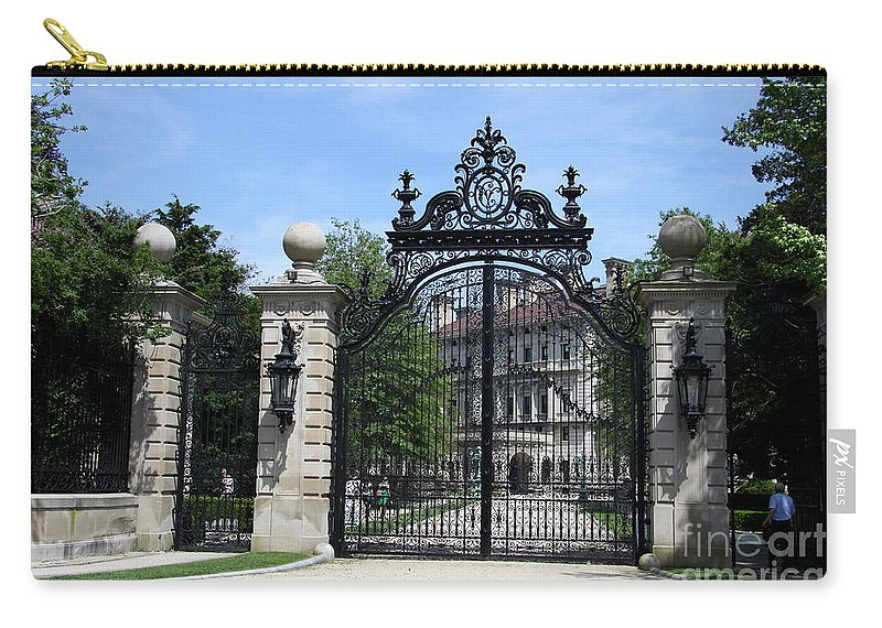 Iron Gate Carry-all Pouch featuring the photograph Iron Gate - The Breakers - Rhode Island by Christiane Schulze Art And Photography