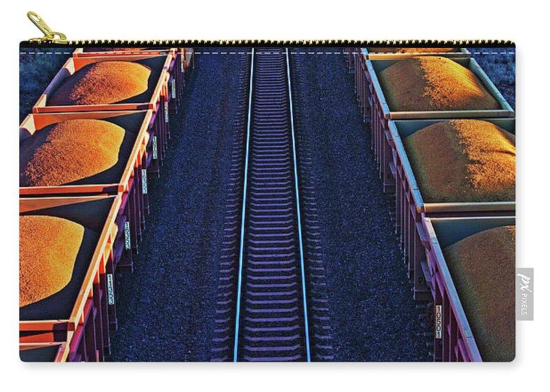 Rail Freight Carry-all Pouch featuring the photograph Iron Ore Train, Karratha. Western by John W Banagan