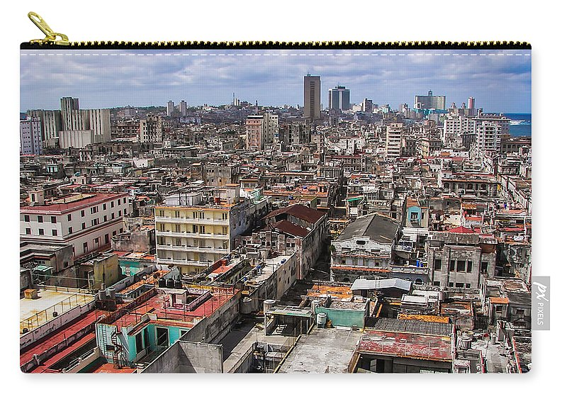 Cuba Carry-all Pouch featuring the photograph Irony Of Cuba by Karen Wiles
