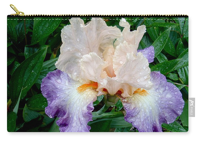 Irresistible Iris Carry-all Pouch featuring the photograph Irresistible Iris by Roxy Hurtubise