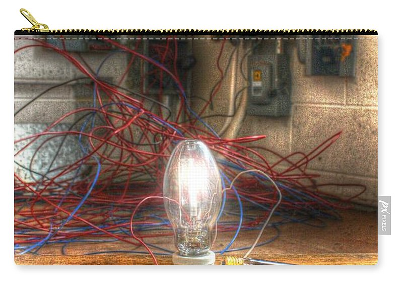 Filament Carry-all Pouch featuring the photograph Is This Right Mr. Edison? by Dan Stone