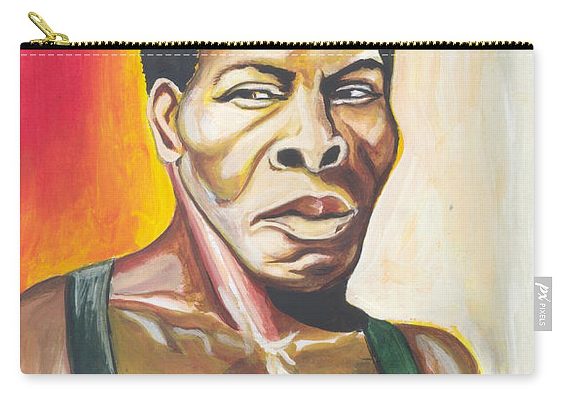 Actor Carry-all Pouch featuring the painting Isaac De Bankole by Emmanuel Baliyanga