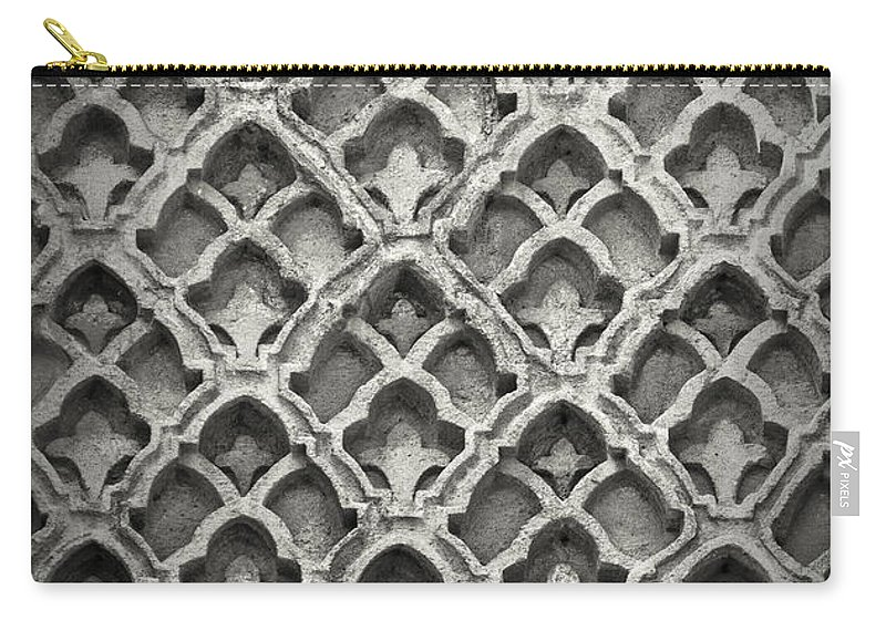 Istanbul Carry-all Pouch featuring the photograph Islamic Art Stone Texture by Antony McAulay