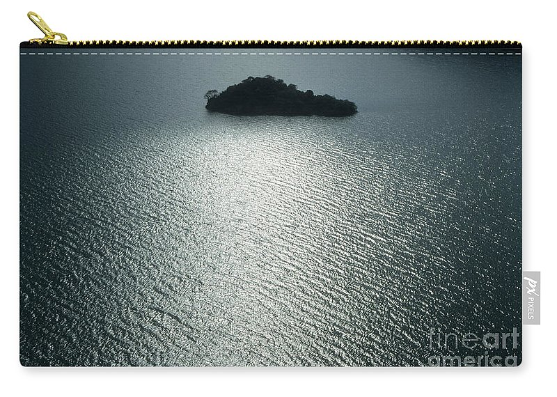 China Carry-all Pouch featuring the photograph Lugu Lake Island And Ripples China by James Brunker