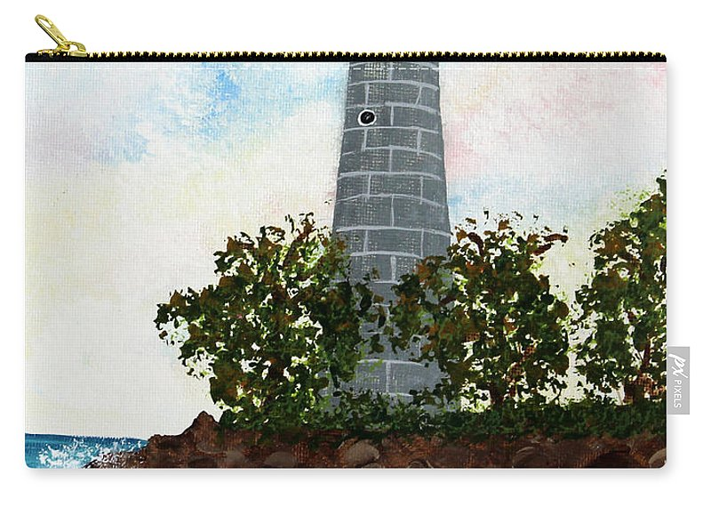 Barbara Griffin Carry-all Pouch featuring the painting Island Lighthouse by Barbara Griffin