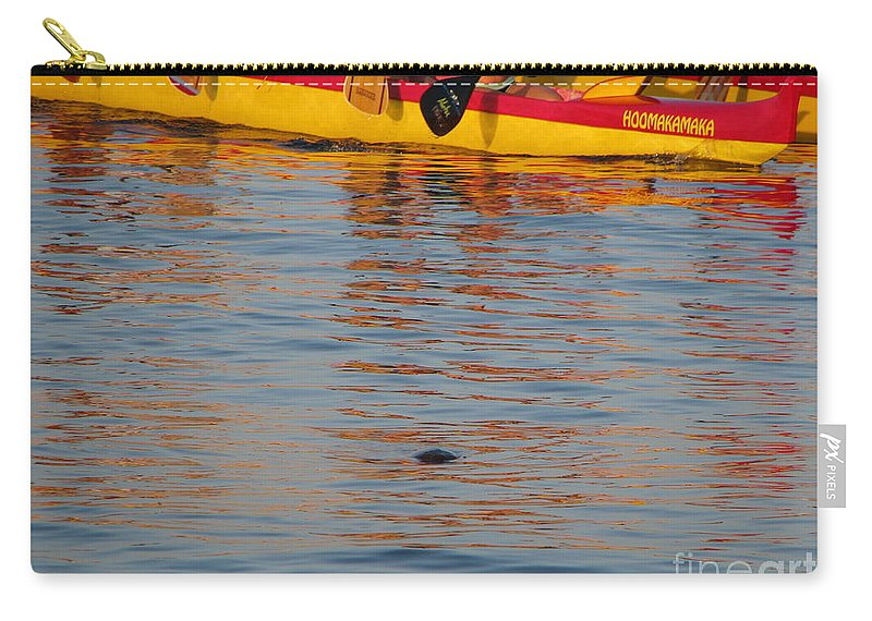 Maui Carry-all Pouch featuring the photograph Island Racing by Michael Krek