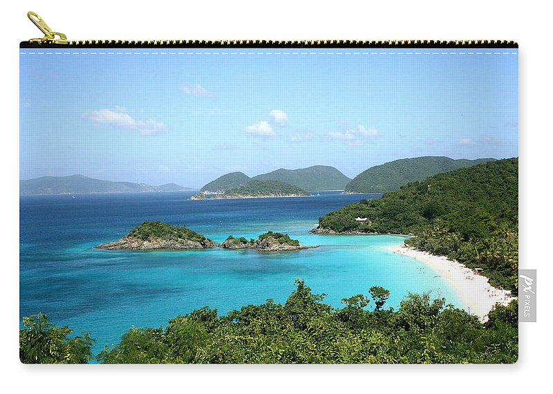 Caribbean Sea Carry-all Pouch featuring the photograph Island Shore Trunk Bay by Sharon McLain