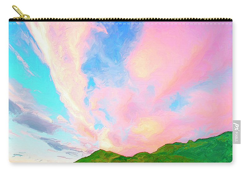 Island Carry-all Pouch featuring the painting Island Sunrise by Dominic Piperata
