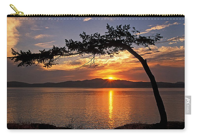 Sunrise Carry-all Pouch featuring the photograph Island Sunrise by Inge Riis McDonald