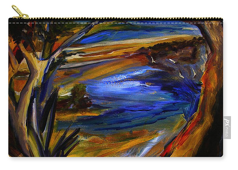 Art Carry-all Pouch featuring the painting Island Waters St. Kitts by Julianne Felton