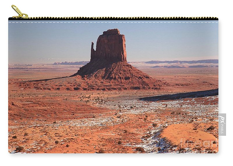 Monument Valley Carry-all Pouch featuring the photograph Isolated Mitten by Adam Jewell