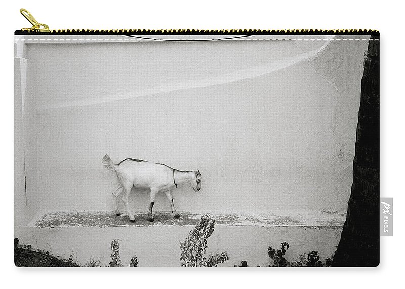 Solitude Carry-all Pouch featuring the photograph The Surreal Goat by Shaun Higson