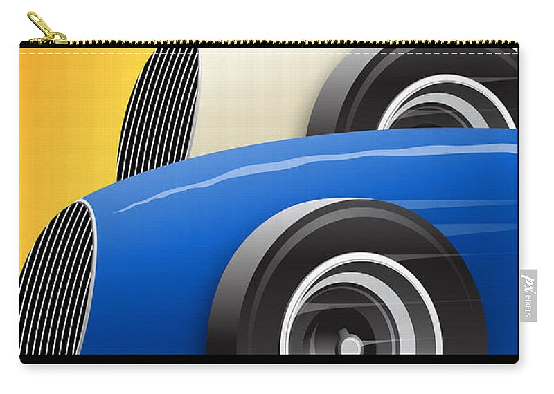Issoire Carry-all Pouch featuring the digital art Issoire France Grand Prix Historique by Georgia Fowler