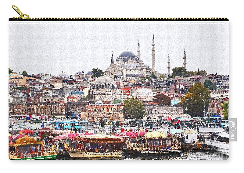 Istanbul Carry-all Pouch featuring the digital art Istanbul by Dia Karanouh