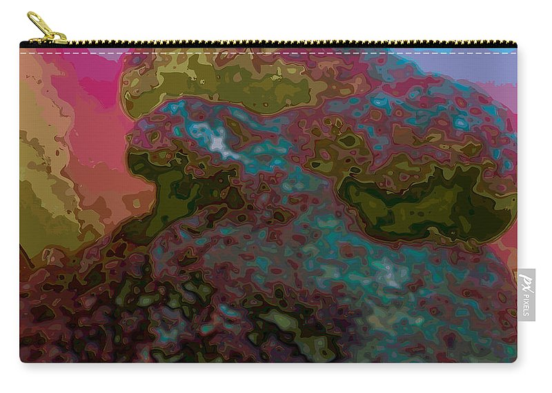 Abstract Carry-all Pouch featuring the digital art It Is What It Is by James Kramer