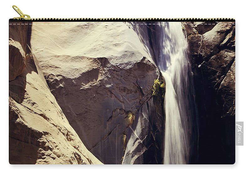 Waterfalls Carry-all Pouch featuring the photograph It Pours Down by Laurie Search