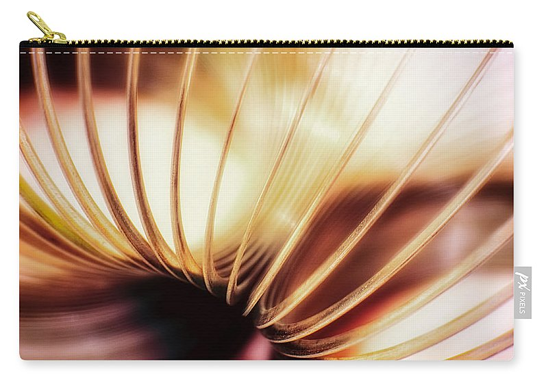 Coil Carry-all Pouch featuring the photograph It Walks Downstairs by Scott Norris