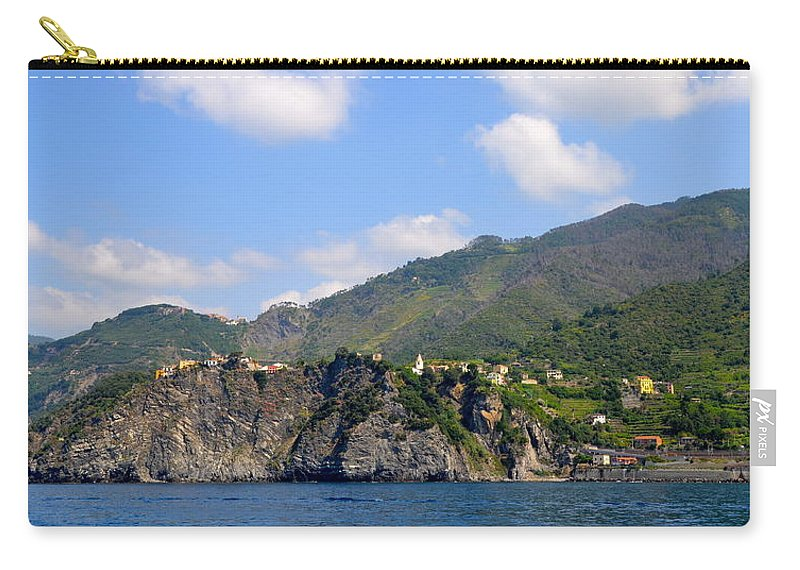 Italy Carry-all Pouch featuring the photograph Italian Coastline by Corinne Rhode