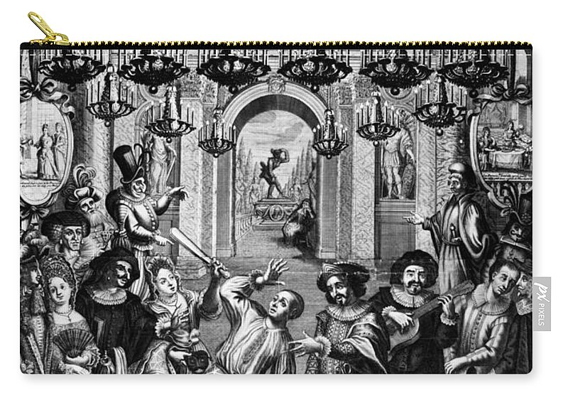 1689 Carry-all Pouch featuring the photograph Italian Comedians, 1689 by Granger