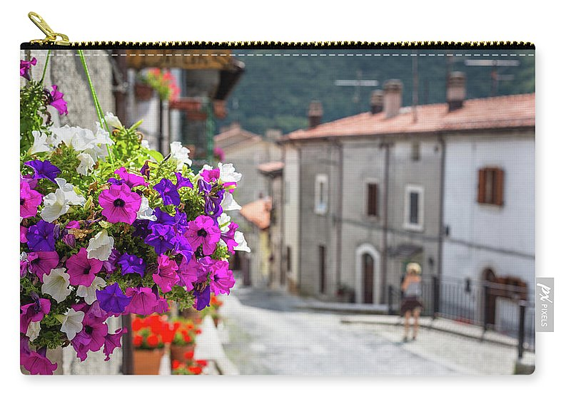 Shutter Carry-all Pouch featuring the photograph Italian Country In Abruzzo by Deimagine