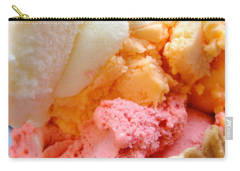 Gelato Carry-all Pouch featuring the photograph Italian Gelato by Tiffany Erdman