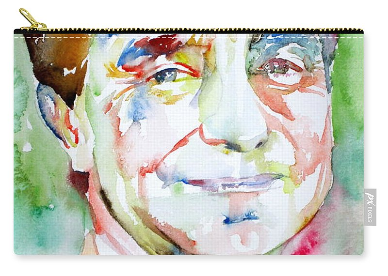 Italo Carry-all Pouch featuring the painting Italo Calvino by Fabrizio Cassetta