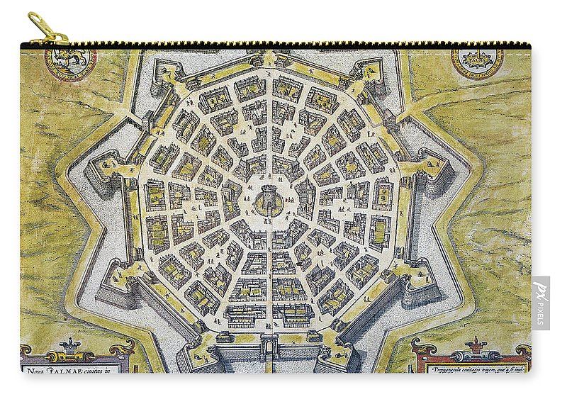 1598 Carry-all Pouch featuring the photograph Italy: Palmanova Map, 1598 by Granger