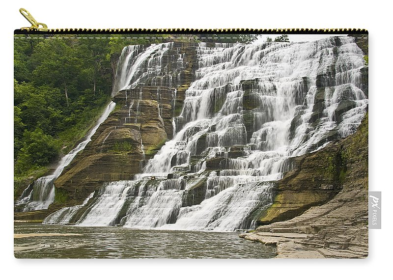 Ithaca Falls Carry-all Pouch featuring the photograph Ithaca Falls by Anthony Sacco