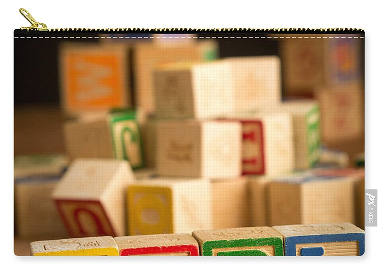 Abcs Carry-all Pouch featuring the photograph Its A Girl - Alphabet Blocks by Edward Fielding