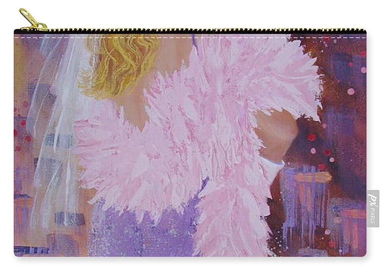 Red Hat Society Carry-all Pouch featuring the painting It's All About The Hat by Margaret Bobb