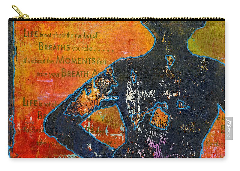 Printing Carry-all Pouch featuring the mixed media It's All About The Moments by Angela L Walker