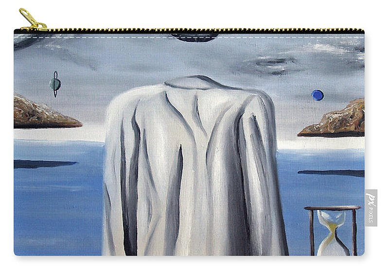Surreal Carry-all Pouch featuring the painting Its All In Your Head by Ryan Demaree