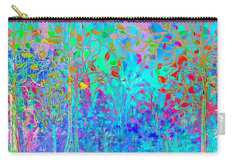 Landscape Carry-all Pouch featuring the digital art It's Another Snow Day by Mary Eichert