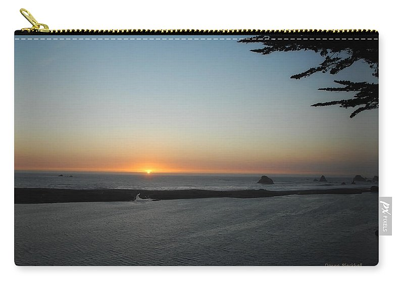 Sunset Carry-all Pouch featuring the photograph It's Hard To Say Goodbye by Donna Blackhall