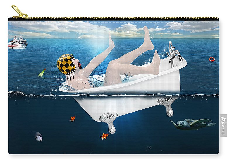 Funny Carry-all Pouch featuring the photograph Its Not The Time by Mark Ashkenazi