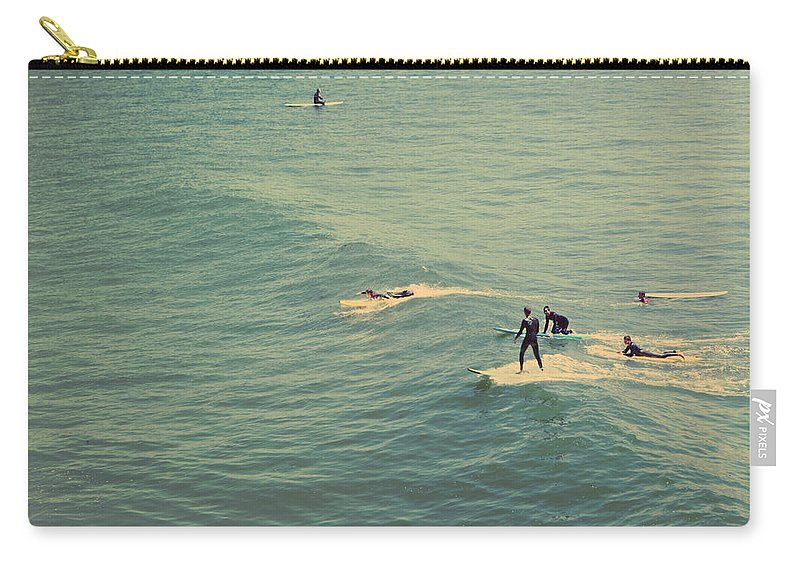 Santa Cruz Carry-all Pouch featuring the photograph It's The Ride by Laurie Search