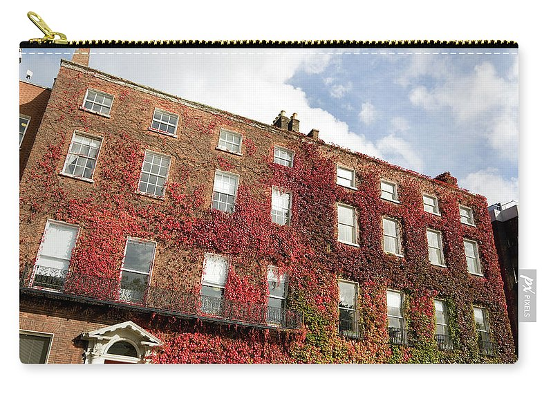 Dublin Carry-all Pouch featuring the photograph Ivy Covered Georgian Style Building In by Lleerogers