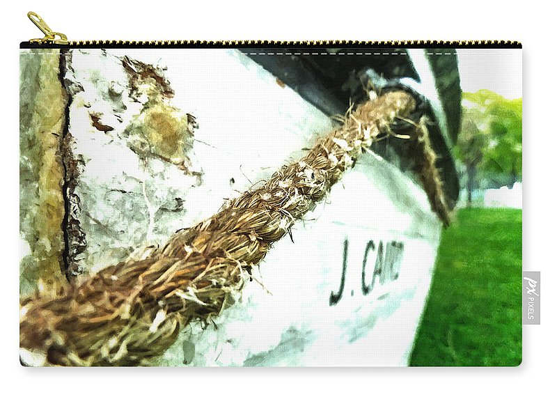 Boat Carry-all Pouch featuring the photograph J. Cairo by Steve Taylor