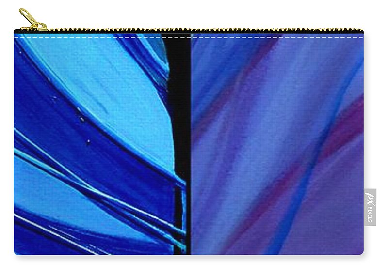 Diptych Carry-all Pouch featuring the photograph j HOT 15 by Marlene Burns