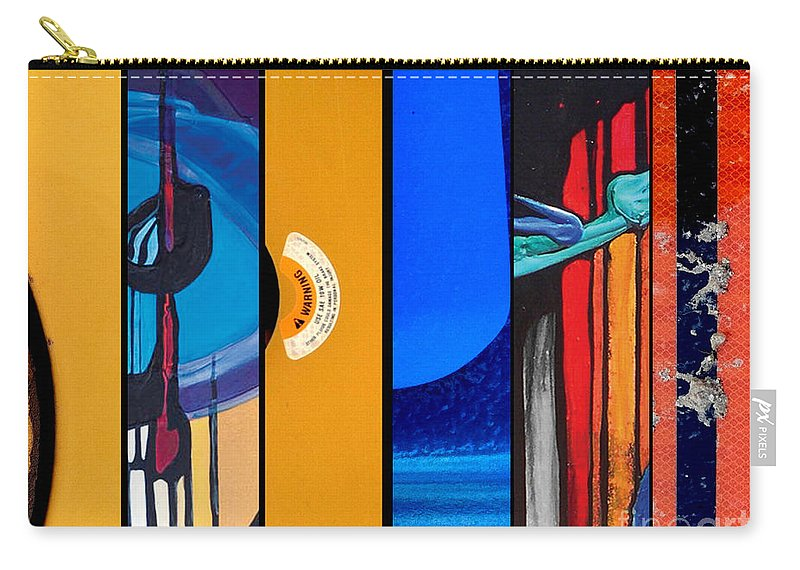 Marlene Burns Carry-all Pouch featuring the painting j HOT 18 by Marlene Burns