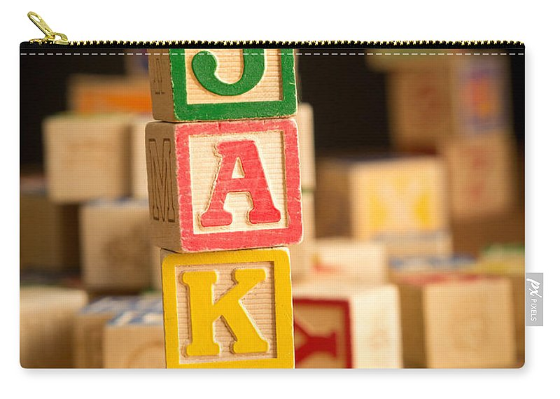 Abcs Carry-all Pouch featuring the photograph Jake - Alphabet Blocks by Edward Fielding