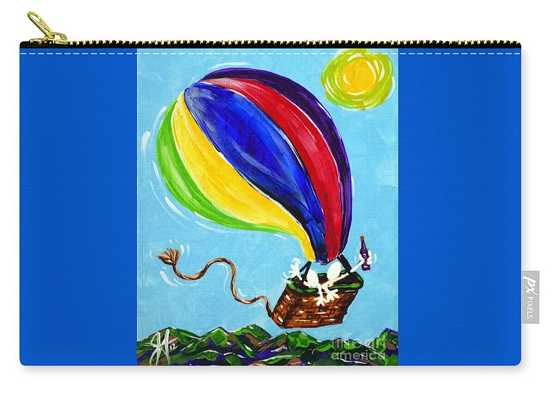Jack Carry-all Pouch featuring the painting Jack And Charlie Fly Away by Jackie Carpenter