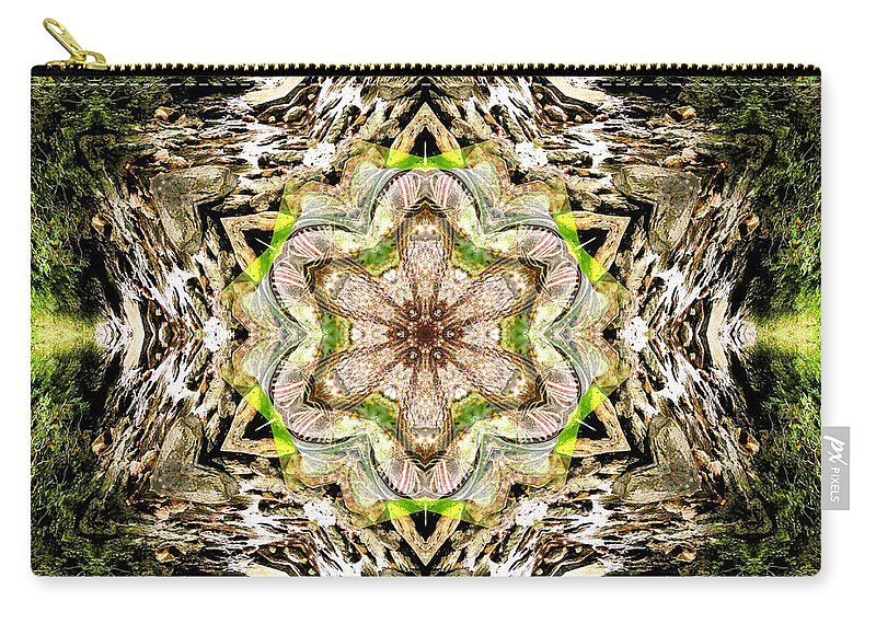 Rainbow Carry-all Pouch featuring the photograph Jack In The Pulpit Mandala by Susan Bloom