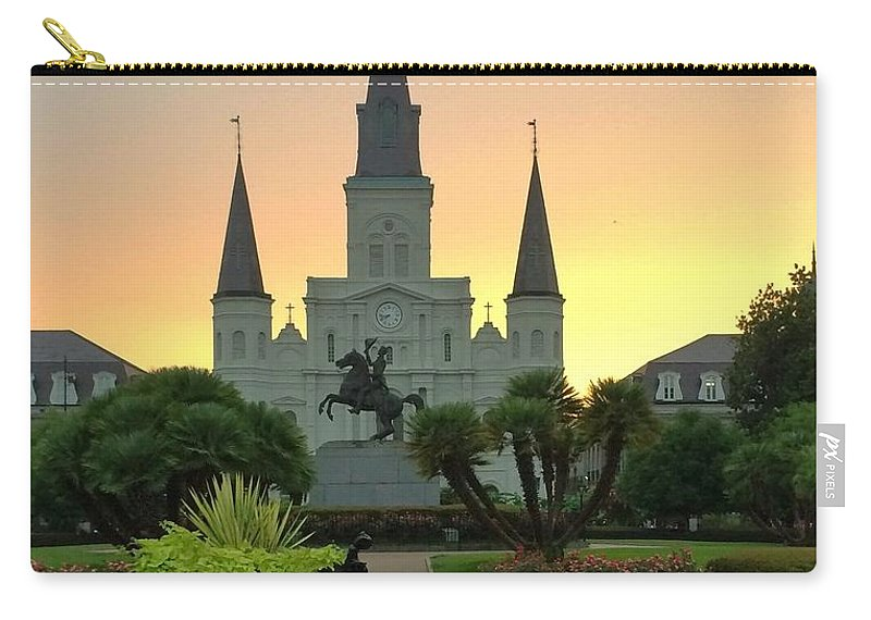 Jackson Square Carry-all Pouch featuring the photograph Jackson Square by Paul Wilford