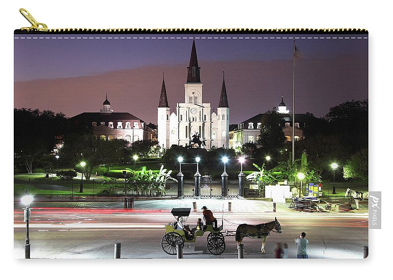 Southern Usa Carry-all Pouch featuring the photograph Jackson Square by Denistangneyjr