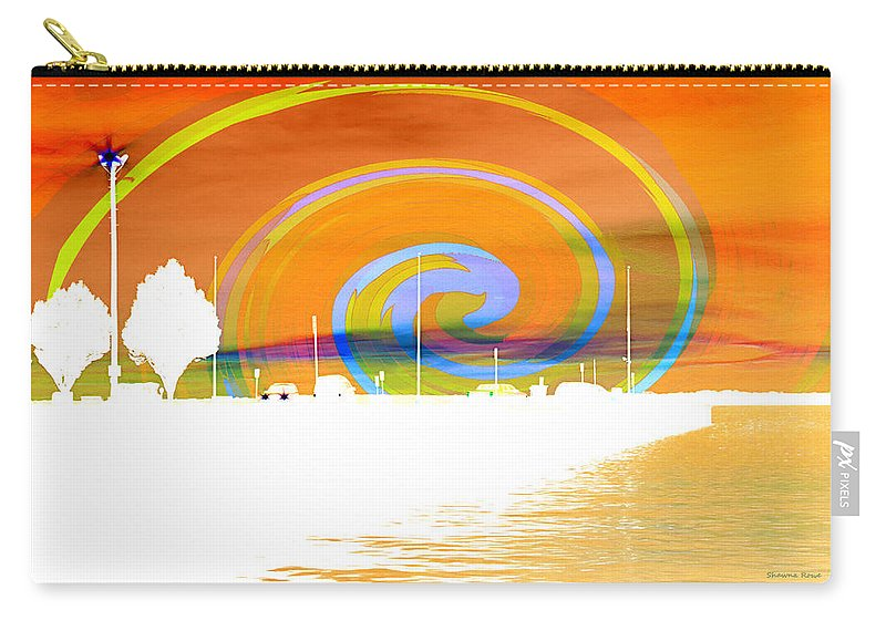Pier Carry-all Pouch featuring the photograph Jackson Street Pier - Orange Swirl by Shawna Rowe