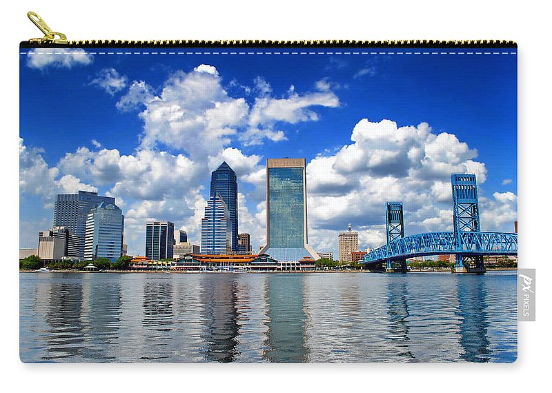 Jacksonville Carry-all Pouch featuring the photograph Jacksonville Skyline by Mountain Dreams