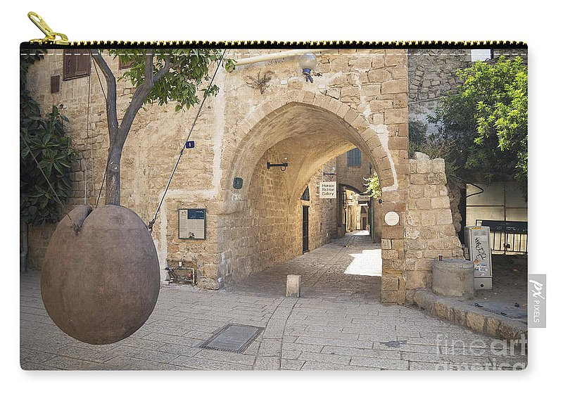 Alley Carry-all Pouch featuring the photograph Jafo In Tel Aviv Israel by Jacek Malipan