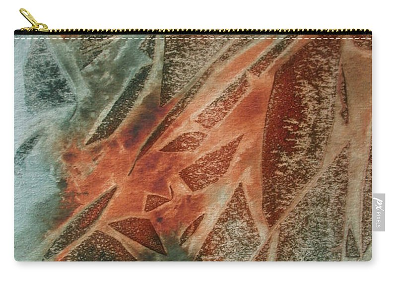 Abstract Carry-all Pouch featuring the painting Jagged Edges by Mary Benke